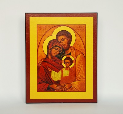 obrazek przedstawiający świętą rodzinę z dzieciątkiem